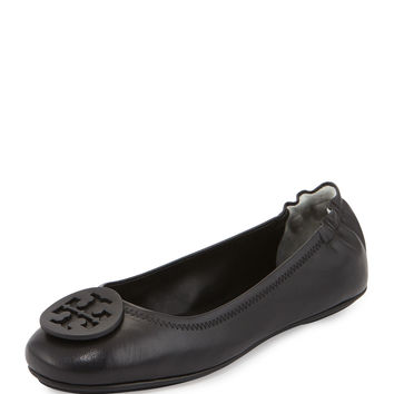 Tory Burch Minnie Travel Logo Ballerina Flat | Neiman Marcus