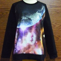 Sky Teen Women Galaxy Shirt Nebula Pink Puple Shirts Sweatshirt Long Sleeve Ladies Winter Size S M L