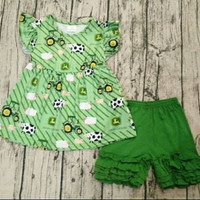 John Deer Ruffle short set