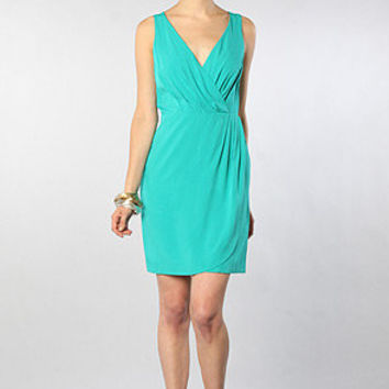 The Alysia Tulip Dress in Bermuda Green