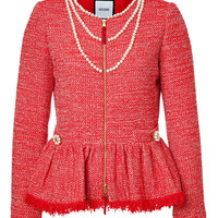 Moschino - Knit Jacket with Pearl Embellishment