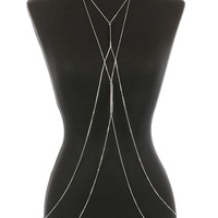 Silver Double Layer Body Chain Necklace