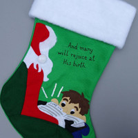 Reason for the Season Christmas Stocking--Boy or Girl