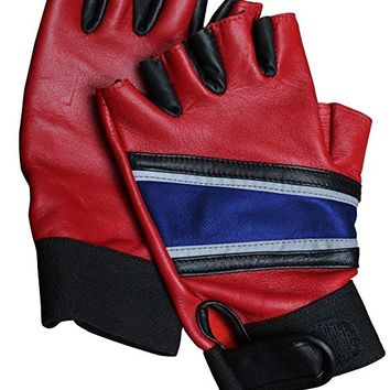 H Q Costume Gloves - Squad Biker Gloves Real Leather