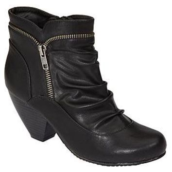 Metaphor- -Women's Tina Zip Detail Bootie - Black-Shoes-Womens Shoes-Womens Boots