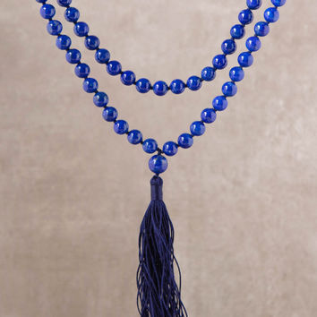High-Energy Blue Lapis Mala