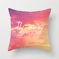 Fly Away Throw Pillow by M Studio