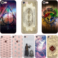 phone case Harry Potter design soft TPU clear Transparent case cover for Apple iPhone 7 7plus 6 6S 6plus 5S SE coque fundas