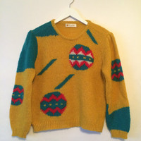 Vintage 70s HOLIDAY CHRISTMAS Sweater Size Small