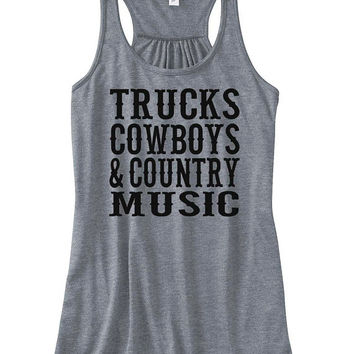 Tank Top - Tucks Cowboys & Country Music