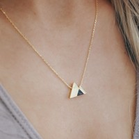 Moving Mountains Necklace - Black