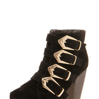Poppy Suedette Multi Buckle Boot