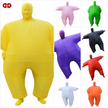 C&Z Circus colorful huge chub air doll aerated masked costume clothing PVC inflatable mascot party ceremony event creative toy