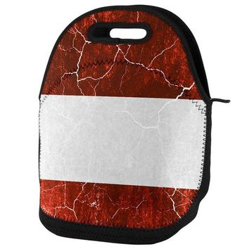 DCCKU3R Austrian Flag Distressed Grunge Lunch Tote Bag