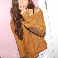Pretty Round Neck Long Sleeve Sweater S006641