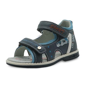 Boys Shoes New Summer Kids Sandals Pu Leather Flat Children's Shoes for Toddler Boys Orthopedic Baby Sandals