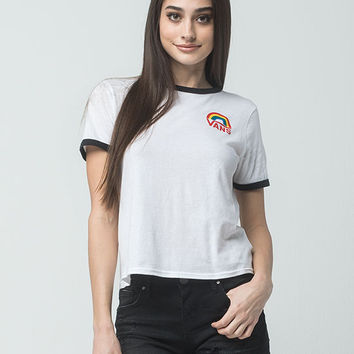 VANS Rainbow Womens Ringer Tee | Graphic Tees