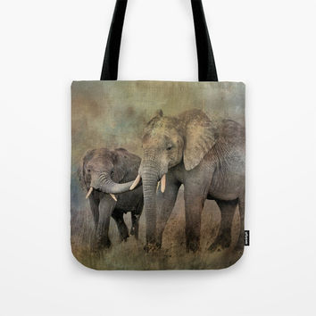 Mother And Child Tote Bag by Theresa Campbell D'August Art