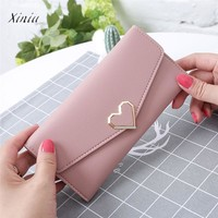 Wallet Women New Fashion Femme Portefeuille Casual Solid Color Hasp Large Capacity Cute Card Hold Long Purses Bags 2018