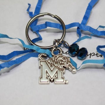 Memphis Tigers key chain, Memphis keychain, Tom the Tiger, Memphis sports