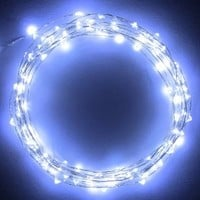 The Original Starry String LightsTM by Brightech - Cool White LEDs on a Flexible Black Wire - 20ft LED String Light with 120 Individually Mounted LED's - Cool White LEDS - The Perfect String Light for Christmas and the Holiday Season