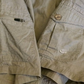Sale!! Vintage Nike Air Casual khaki Cargo skateboard Summer shorts size 38 Free shipping within the USA