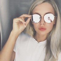 Candy Colored Mirror Circle Sunglasses