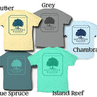 Southern Raised Logo Tees on Comfort Colors - 5 Colors Choices 2X