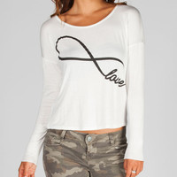 Full Tilt Infinite Love Womens Tee Cream  In Sizes