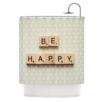 "Cristina Mitchell ""Be Happy"" Shower Curtain"