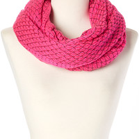Neon Pink Net Worth Infinity Scarf