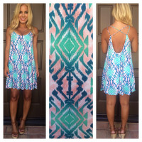 Mint Desert Oasis Low Back Dress