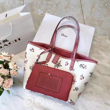 Coach Floral Bloom Print Shopping Tote