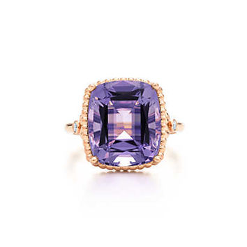 Tiffany & Co. - Tiffany Sparklers amethyst ring in 18k rose gold with diamonds.