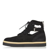 ATTACK Cut-Out Boots - Black
