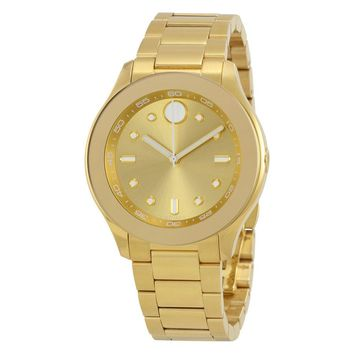 Movado Bold Yellow Gold IP Stainless Steel Ladies Watch 3600416