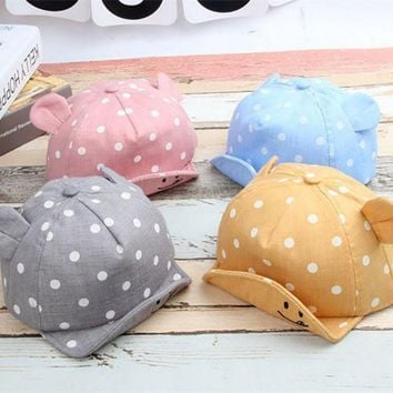 New Sweet Baby Girl Boys Cap Summer Infant Sun Hat With Ear Sunscreen Baby Girl Hat Spring Baby Accessories