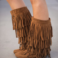 Dancing In My Moccasin Boots (Rust)