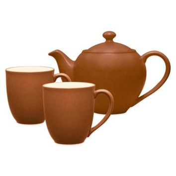 Noritake® Colorwave 3-Piece Tea-for-Two Teapot Set in Terra Cotta