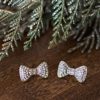 Kira Diamond Bow Earrings
