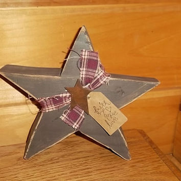 Primitive Star Home Decor, Rustic Star Decor, Country Home Decor, Gift Idea, Primitive Sign