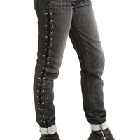 Not-Quite-Vintage 00's Laced Up and Ready to Go Jeans - XS/S