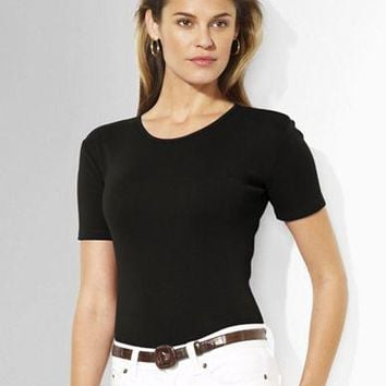 Lauren Ralph Lauren Charissa Short-Sleeved Crewneck T-Shirt