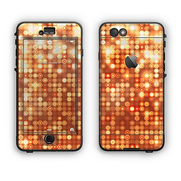 The Bright Orange Unfocused Circles Apple iPhone 6 LifeProof Nuud Case Skin Set