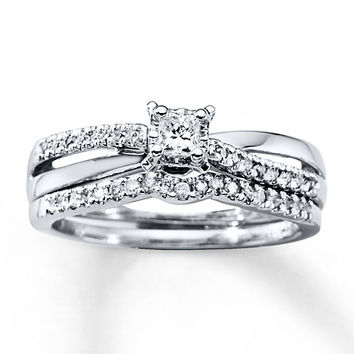 Diamond Bridal Set 1/3 Carat tw 10K White Gold
