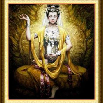 Needlework,DIY Cross stitch,Sets For Embroidery kits,Buddhism Goddess religious Cross-Stitch,Famous Painting Wall decoration