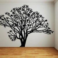 Magnolias Tree Vinyl Wall Decal Sticker. #AC152