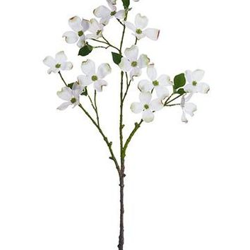 """Artificial Dogwood Spray in White - 36"""" Tall"""