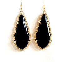 Selma Earrings In Black & Gold