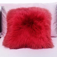 Decorative Sheepskin Wool Pillow